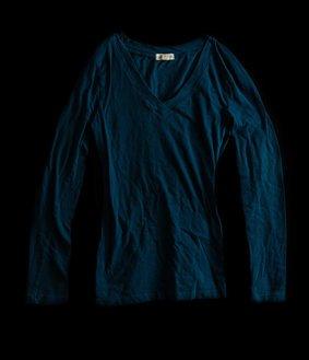 T-shirt manches longues bleu - Kat Cambareri